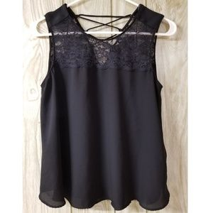 Zara Basic Lace Tank